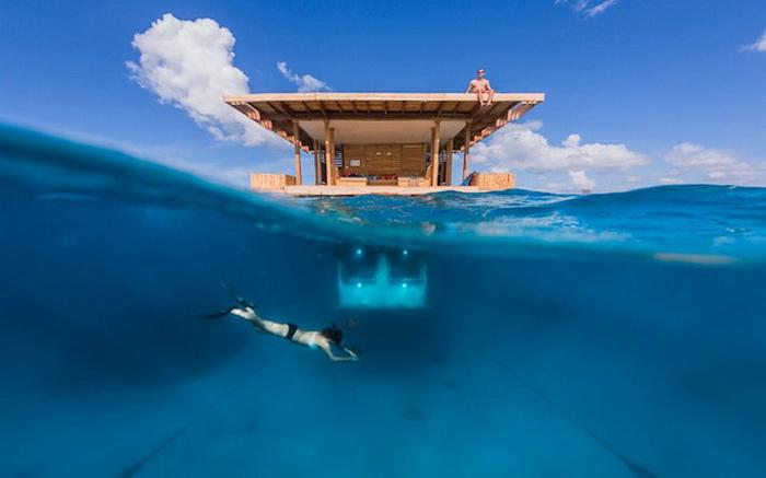 Отель Manta с подводными номерами
